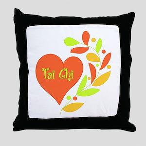 Tai Chi Heart Throw Pillow