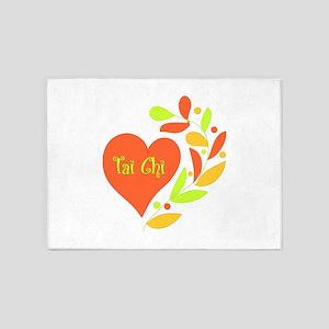 Tai Chi Heart 5'x7'Area Rug