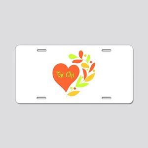Tai Chi Heart Aluminum License Plate