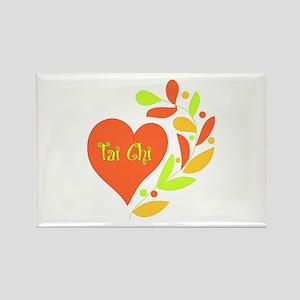 Tai Chi Heart Rectangle Magnet