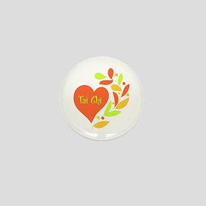 Tai Chi Heart Mini Button