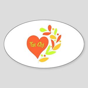 Tai Chi Heart Sticker (Oval)