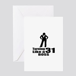 Like a boss greeting cards cafepress turning 31 like a boss birthday greeting card m4hsunfo