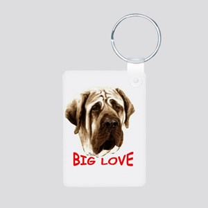 mastiff Aluminum Photo Keychain
