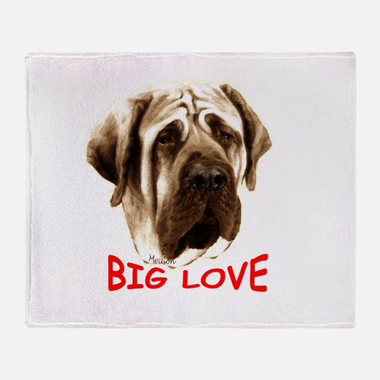 mastiff Throw Blanket