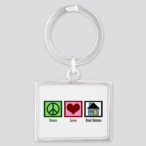 Peace Love Real Estate Landscape Keychain