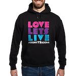 Love Lets Live Hoodie (black multi)