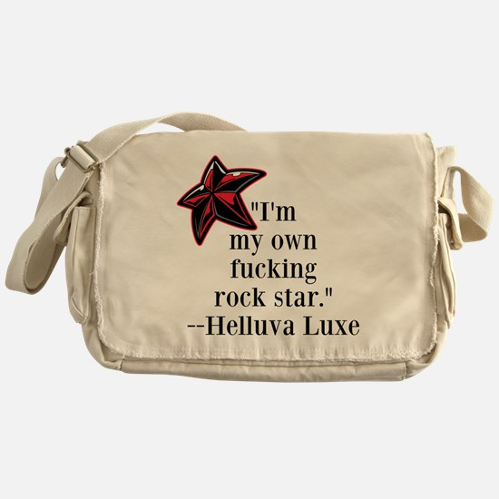 Rorkes rock star quote Messenger Bag