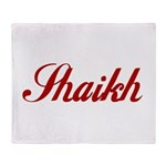 Shaikh name Throw Blanket