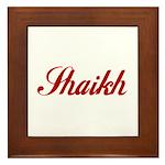 Shaikh name Framed Tile