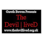 Gareth Bowen Presents The Devil Lived Sticker