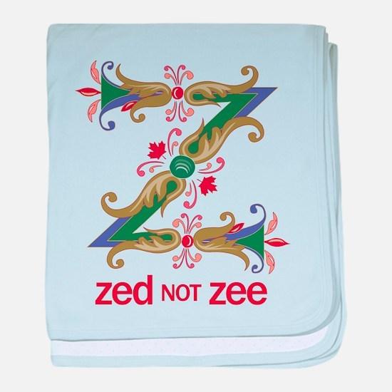 Zed not Zee baby blanket