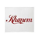 Khanom name Throw Blanket