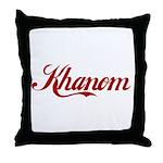Khanom name Throw Pillow