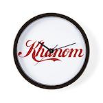 Khanom name Wall Clock