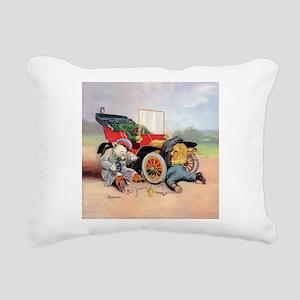 Roosevelt Bear Mechanic Rectangular Canvas Pillow