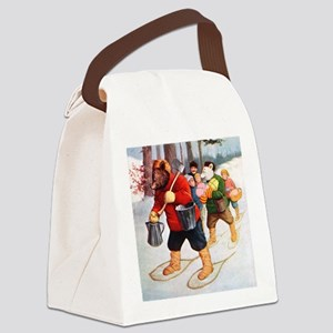 RB_canadian snow rb abroad_SQ Canvas Lunch Bag