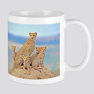 Cheetah Family Mugs