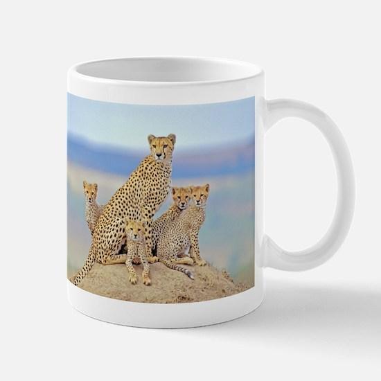 Cheetah Family Mugs