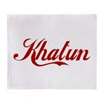 Khatun name Throw Blanket