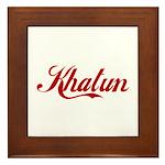 Khatun name Framed Tile
