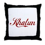 Khatun name Throw Pillow