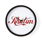 Khatun name Wall Clock