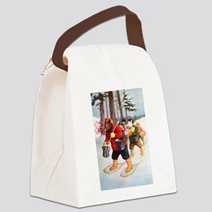 RB_canadian snow rb abroad Canvas Lunch Bag