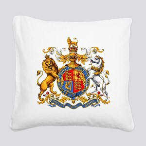 Royal Coat Of Arms Square Canvas Pillow