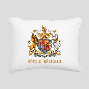 Royal Coat Of Arms Rectangular Canvas Pillow