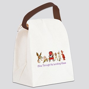 Alice Purple 5 Canvas Lunch Bag
