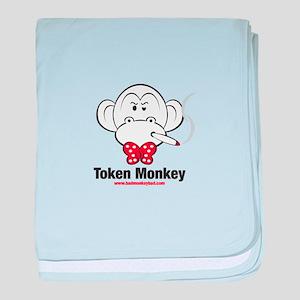 Token Monkey baby blanket