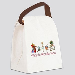 Alice Red 4 Canvas Lunch Bag