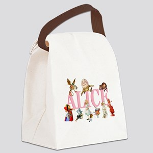 Alice Pink 3 Canvas Lunch Bag