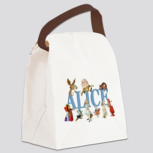 Alice Blue 3 Canvas Lunch Bag