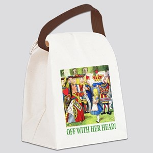 ALICE_OFF WITH HEAD_GREEN Canvas Lunch Bag