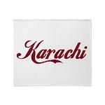 Karachi name Throw Blanket