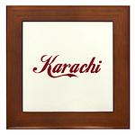 Karachi name Framed Tile