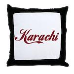 Karachi name Throw Pillow