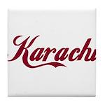 Karachi name Tile Coaster