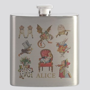 Alice_In Wonderland_GOLD Flask