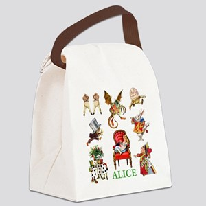Alice_In Wonderland_GREEN Canvas Lunch Bag
