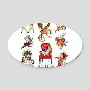 Alice_In Wonderland_GREEN Oval Car Magnet