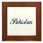 Pakistan (Blue) Framed Tile