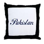 Pakistan (Blue) Throw Pillow