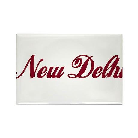 New Delhi name Rectangle Magnet