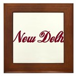 New Delhi name Framed Tile