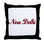 New Delhi name Throw Pillow
