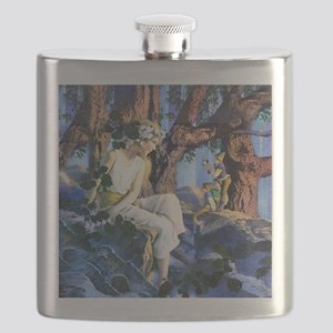 PARRISH GNOMES AND FAIRY PRINCESS_SQ Flask