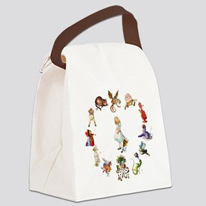 Through The Looking Glass Canvas Lunch Bag